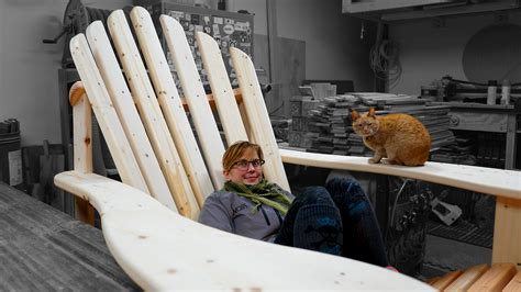 building  giant adirondack chair jackman works