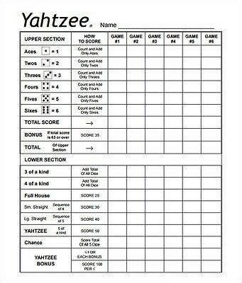 double face adhesives yardzee yahtzee farkle score