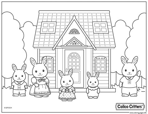 calico critters cute family coloring pages  images