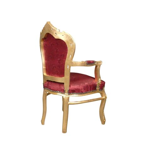 fauteuil baroque rouge et or chaise baroque canap 233 baroque