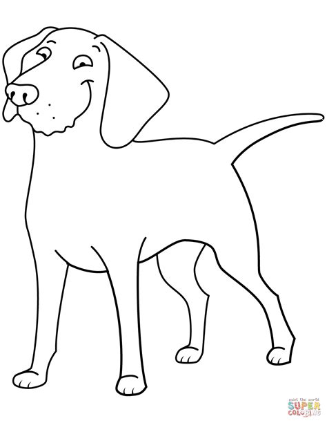 funny golden retriever coloring page  printable