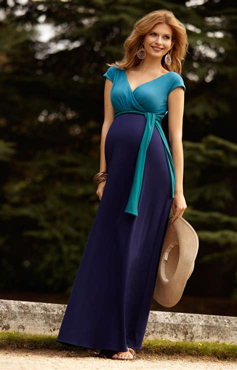 maternity maxi dress for wedding block maternity maxi dress biscay blue maternity wedding dresses evening wear and