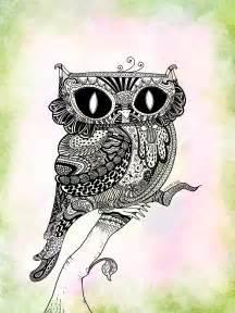 Zentangle Animals Owl