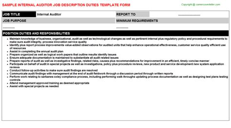 Auditor Duties And Responsibilities Resume by Audit Descriptions