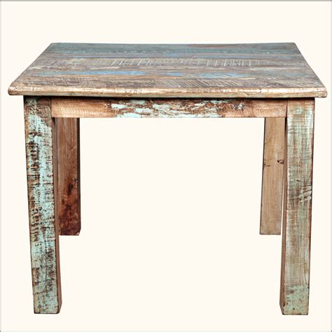 reclaimed wood kitchen table and chairs rustic reclaimed wood distressed 40 quot square kitchen dining