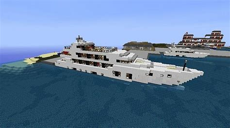 How To Make A Yacht Boat In Minecraft by M Y Minecraft Yacht Minecraft Project