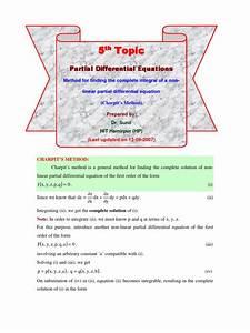 5  Charpit U0026 39 S Method