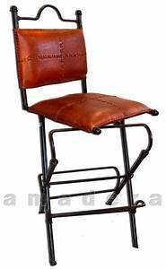 Chaise De Bar Haute : chaises haute de bar pivotantes en cuir et fer forg mobilier de bar ~ Teatrodelosmanantiales.com Idées de Décoration