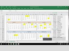 Excel Customizable Calendar for Year 2016,2017, 2018