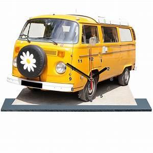 Combi Vw Hippie : vw combi volkswagen jaune horloge miniature sur socle ~ Medecine-chirurgie-esthetiques.com Avis de Voitures