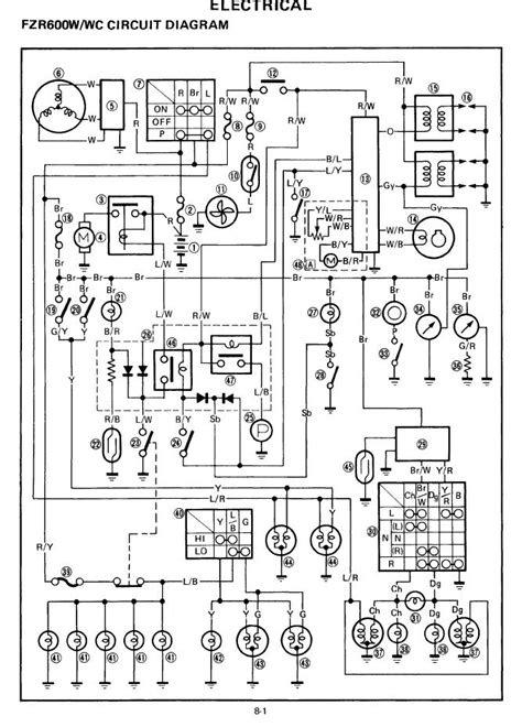 1986 Yamaha Xs1100 Wiring Diagram by Wiring Diagram Needed For 1989 Yamaha Fzr1000 Genesis