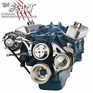 Small Block Chrysler Serpentine Conversion Kit 318 340 360 Mopar Billet Aluminum
