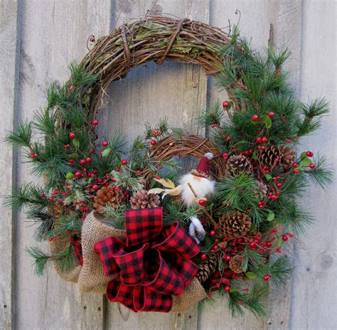 christmas wreath holiday d 233 cor woodland christmas rustic