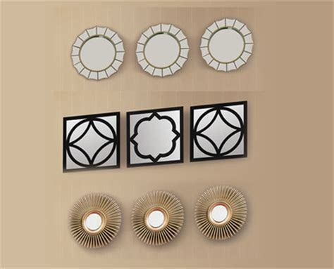 ✓ cod buy exclusively handcrafted or vintage clocks from the amazing handpicked collection of wall clocks including wood, metal, and paper and add. Huntington Home 3-Piece Decorative Wall Mirrors - Aldi ...