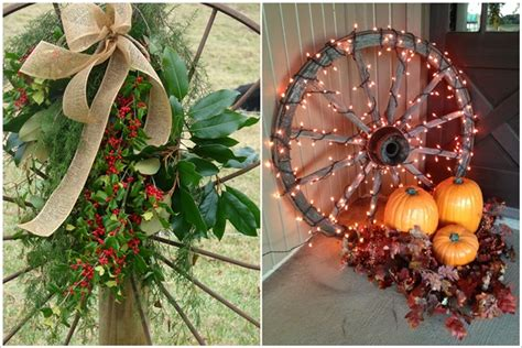 amazing ideas  decorate  home  wagon wheels