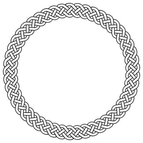 4-plait border circle | Celtic symbols, Celtic circle ...