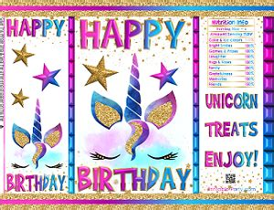 printable birthday chip bags party favors instant