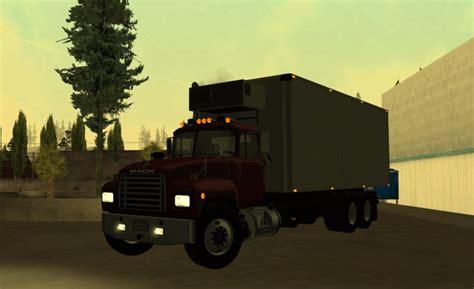 gta san andreas mack  box truck mod gtainsidecom