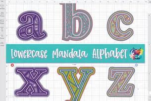 It is best to make 3d mandalas from medium to heavy cardstock and if you have a bunch of. FREE Layered Mandala Alphabet SVG | Geometric alphabet ...