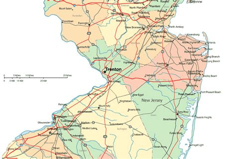 Central Jersey by Regional Map Of Central New Jersey