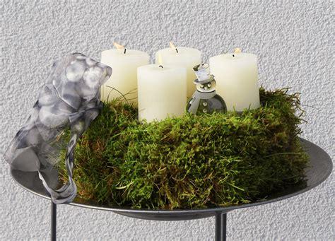 Weihnachtsdeko Aus Dem Garten by Utes Adventsgesteck Aus Moos Aus Dem Garten Diy