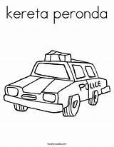 Kereta Coloring Peronda Police Built California Usa sketch template