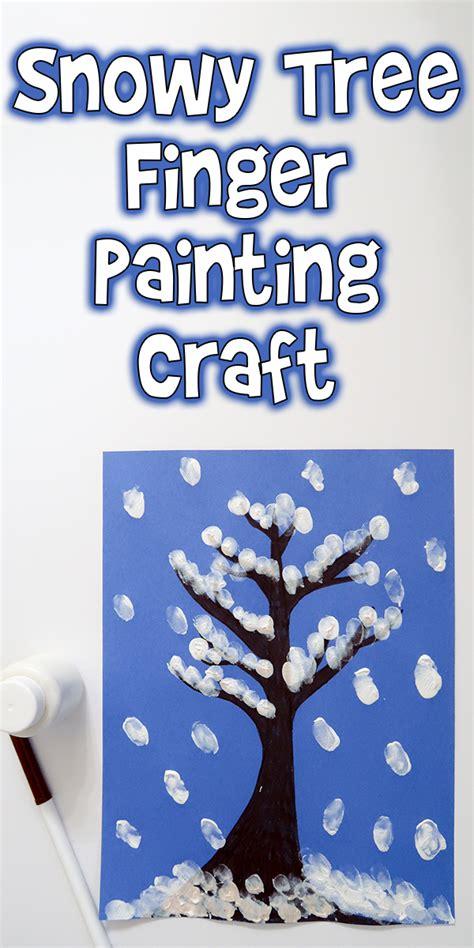 snowy tree finger painting winter art project  kids woo jr kids activities