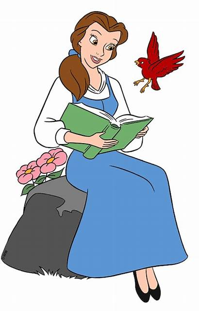 Belle Disney Clipart Character Characters Clip Reading
