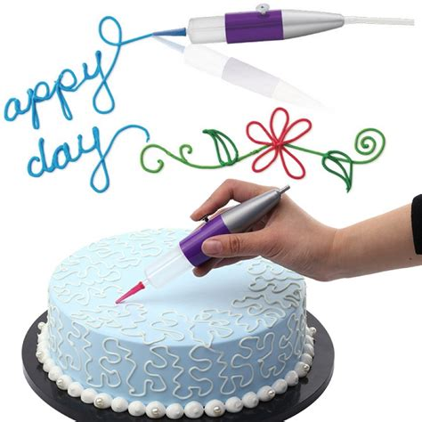 cake decorating icing pens icing piping nozzle tips fondant cake craft compressor air