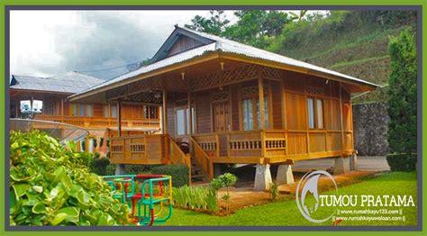 rumah kayu ukuran      desain minimalis tipe