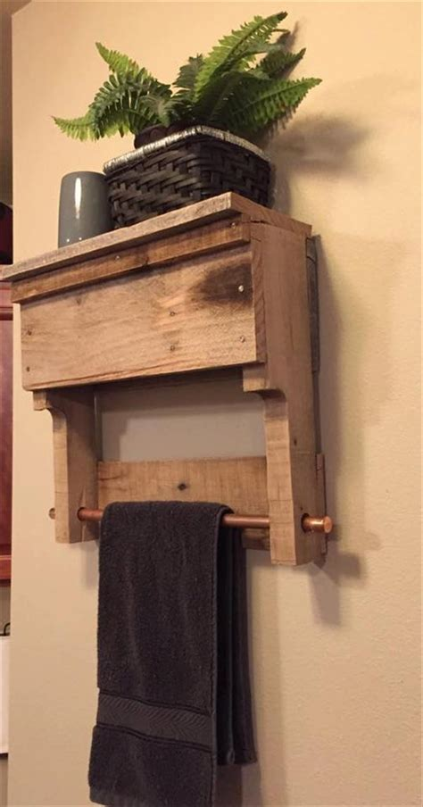 diy pallet bathroom shelf pallet furniture plans