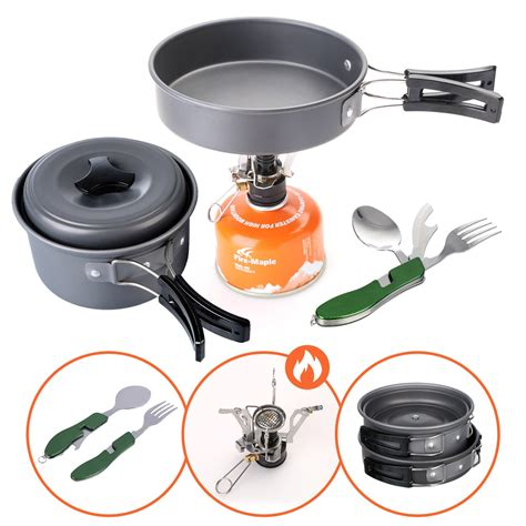 camping cookware lightweight utensils stove pans backpacking complete cooking boom dream durable ideal hiking outdoors gear features