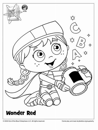 Coloring Super Why Pages Pbs Wonder Printable
