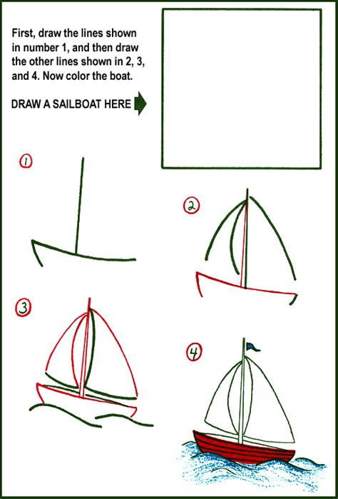 How To Draw A Tiny Boat by How To Draw A Sailboat Purple Kitty