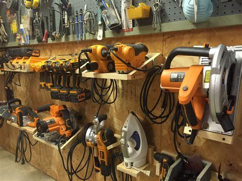 Garage Organization Workshop Tools by Power Tool Cleat System Woodshop Ideas Garage