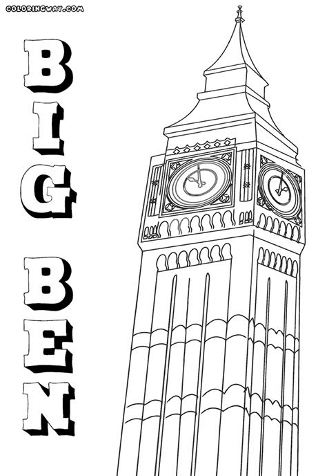 Big Coloring Pages Big Ben Coloring Pages Coloring Pages To And Print