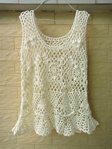 Boho Handmade Crochet Tank Women Summer Ruffle Top