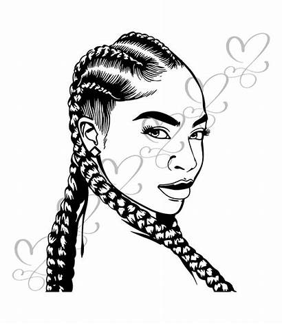Svg Braids Afro Dreads Woman Locs Hairstyle
