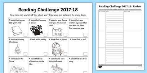 personal reading challenge   checklist scottish