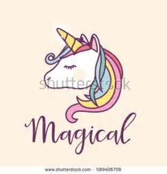 Cute Unicorn Head Template