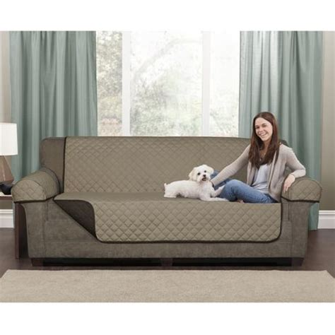 Loveseat Cover Walmart by Mainstays Microfiber Reversible Loveseat Pet Cover