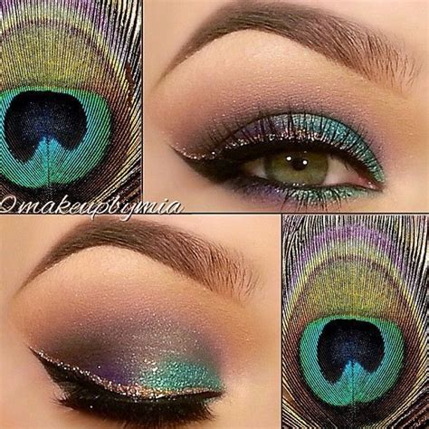 peacock feathers eye makeup pictures   images