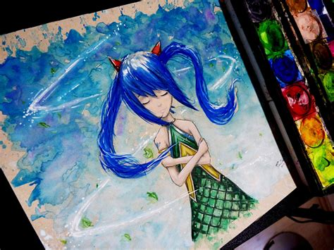 watercolor anime wendy watercolor time lapse painting anime