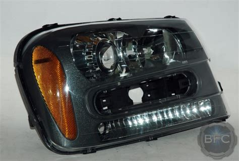 trailblazer headlight package 2005 chevy hid headlights retrofit beam blackflamecustoms projector