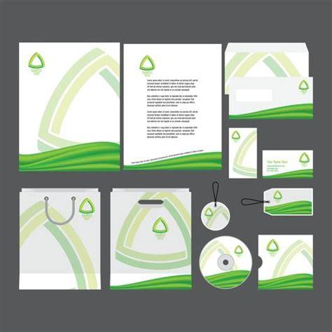 green company profile template   vector art