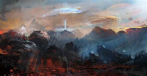 artwork fantasy art concept art planet futuristic