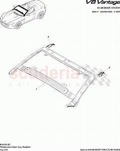 Aston Martin V8 Vantage Windscreen Outer Assembly