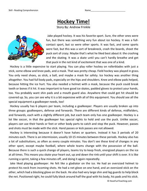 hockey worksheets the best and most comprehensive worksheets