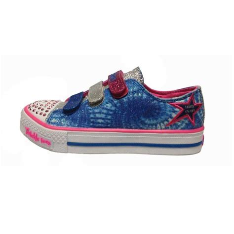 skechers kids light up shoes skechers kids 10383l twinkle toes shuffles peace n