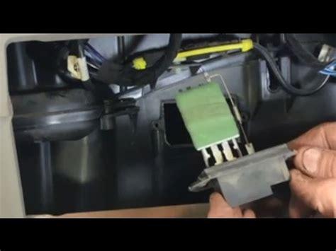 2002 Chrysler Town And Country Blower Motor Resistor by How To Replace The Blower Motor Resistor In A Caravan